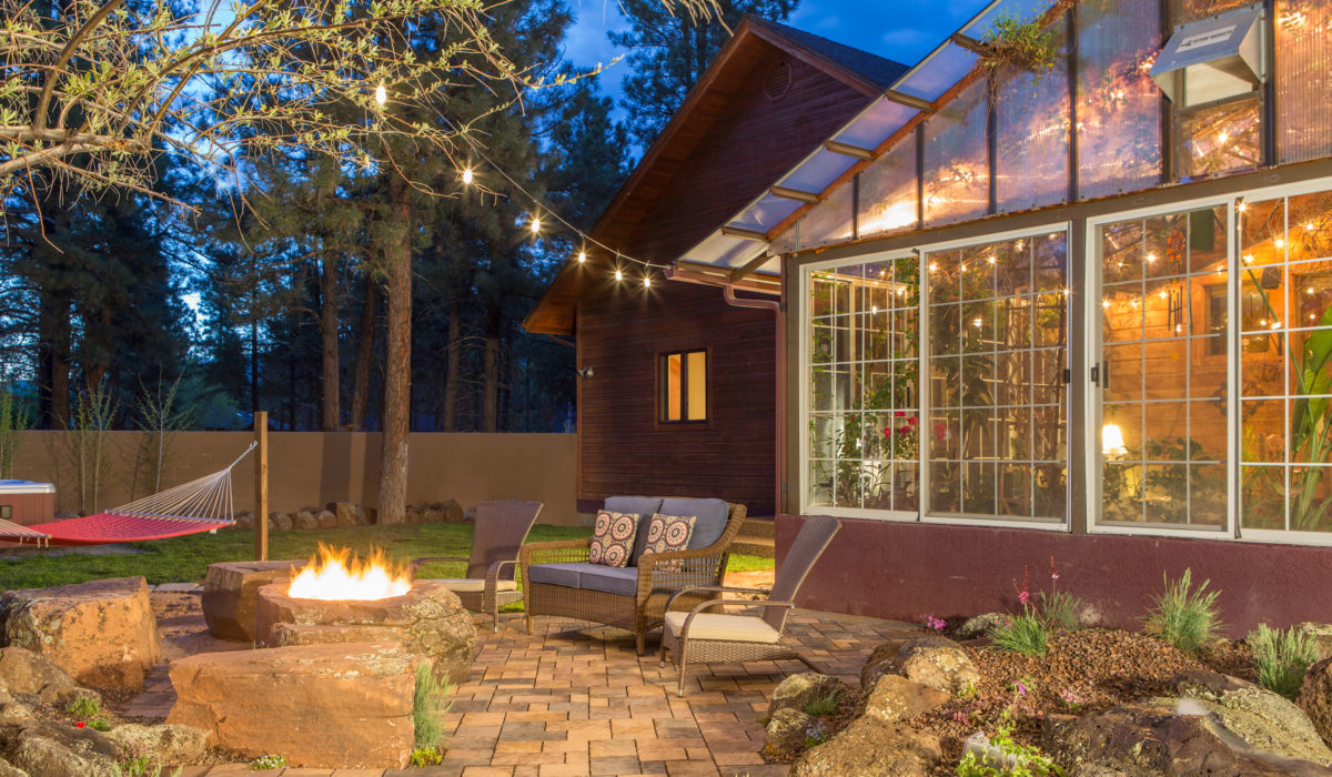 flagstaff landscaping design patio and fire-pit