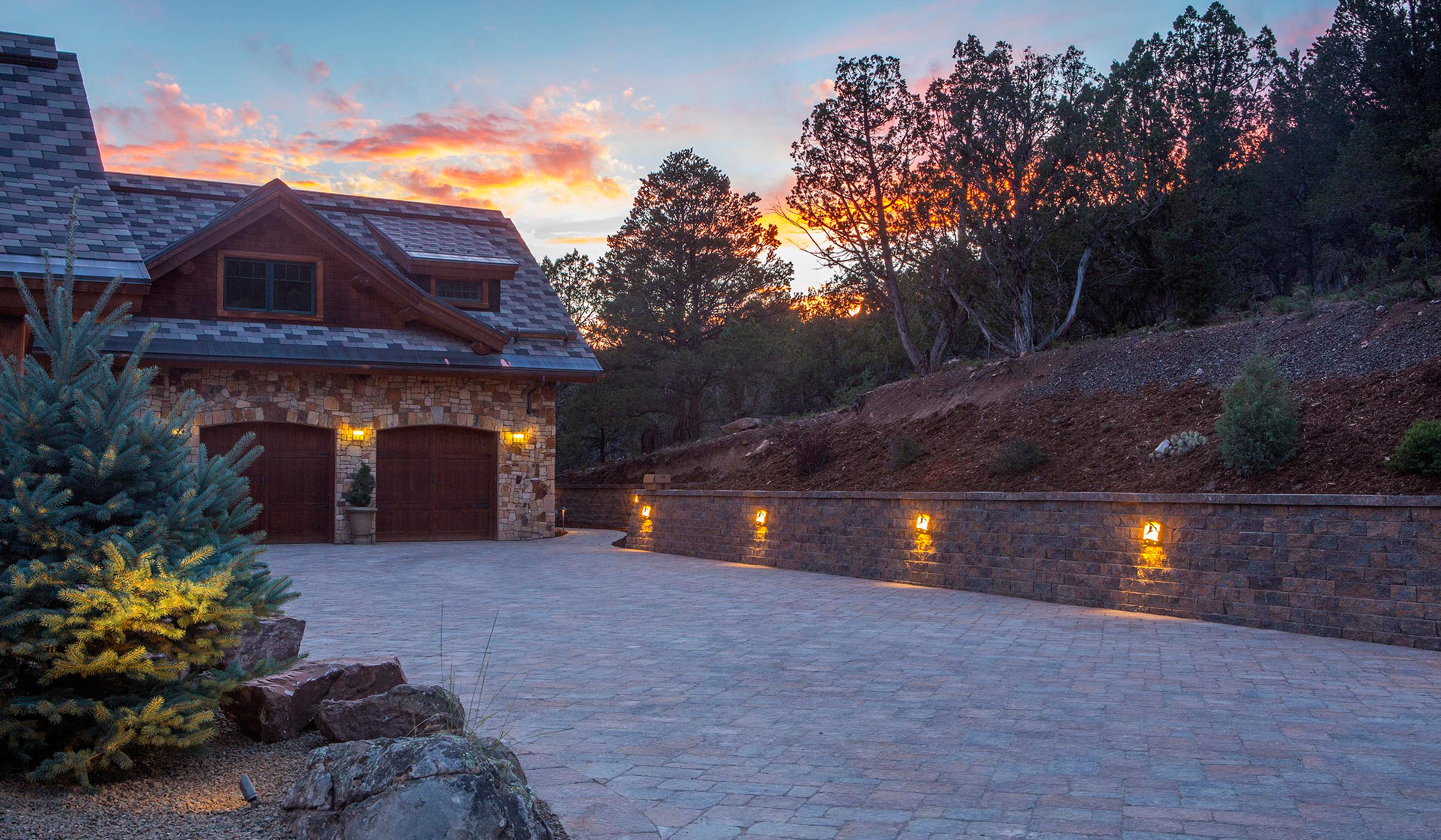Flagstaff Landscaping Company, paver driveway