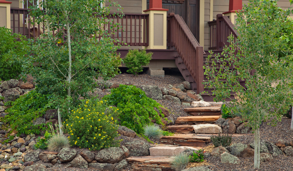 Landscape Contractor Flagstaff - Steps - Retaining Walls