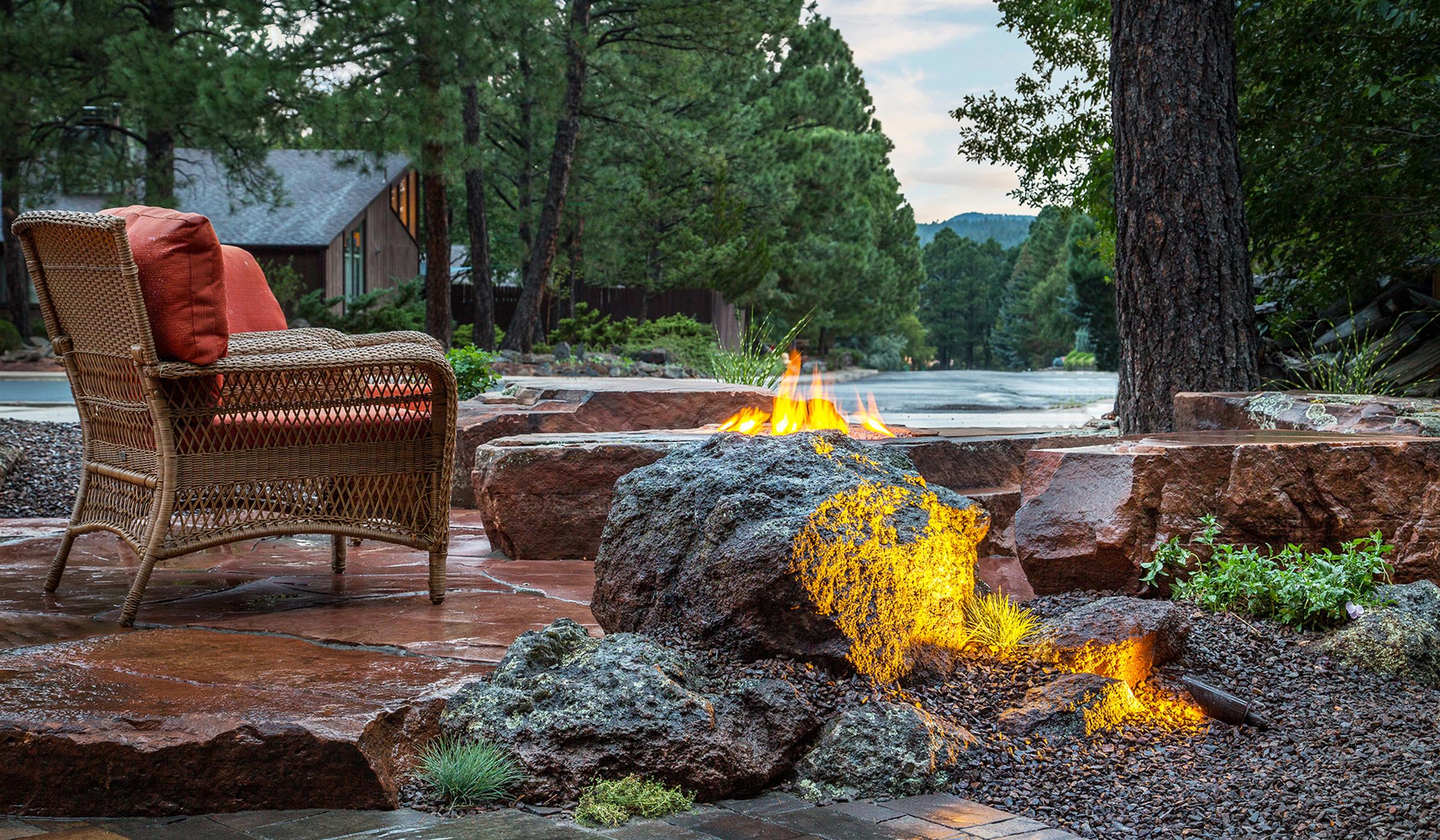 Flagstaff Landscape Design fire pit