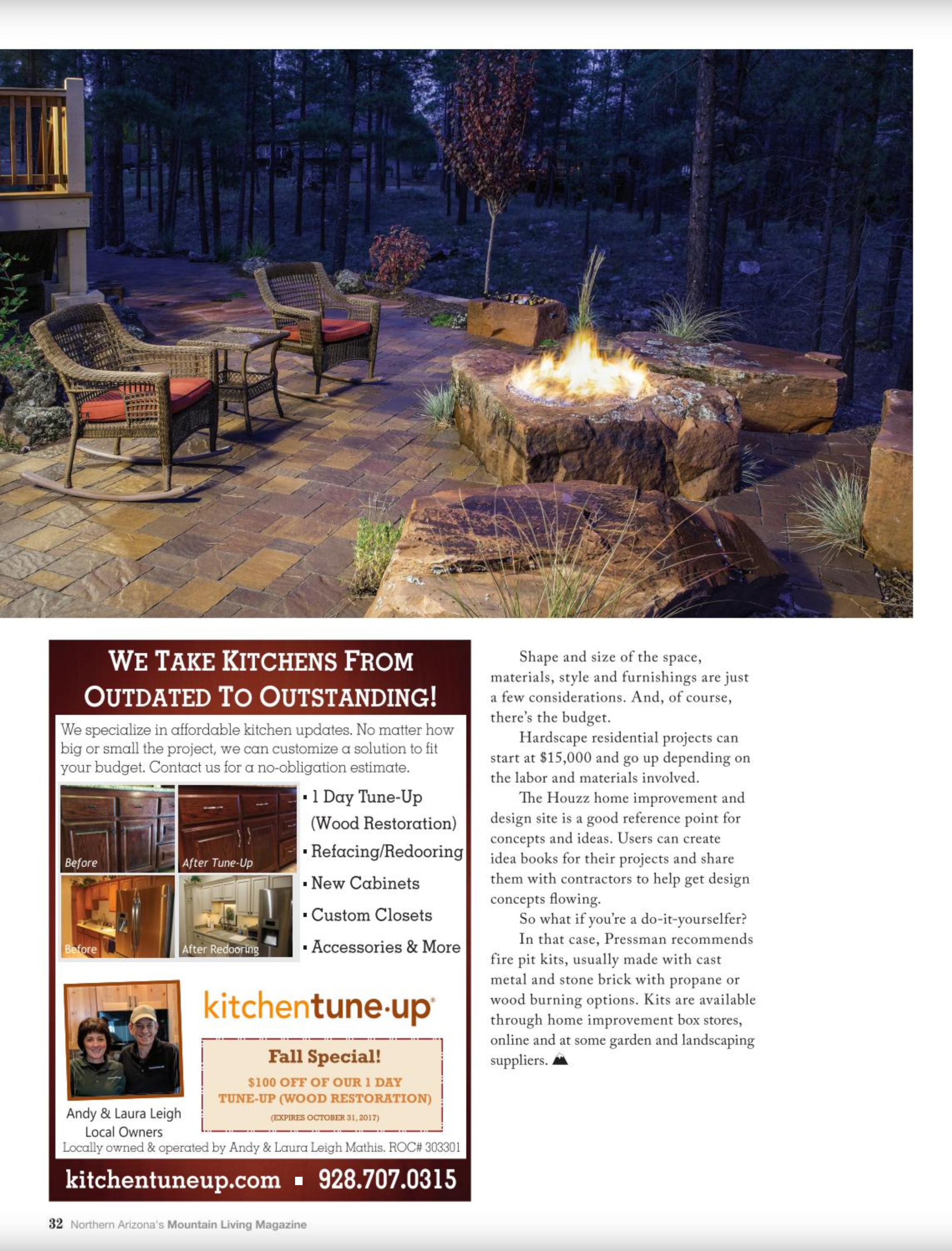 mountain living landscape designer flagstaff