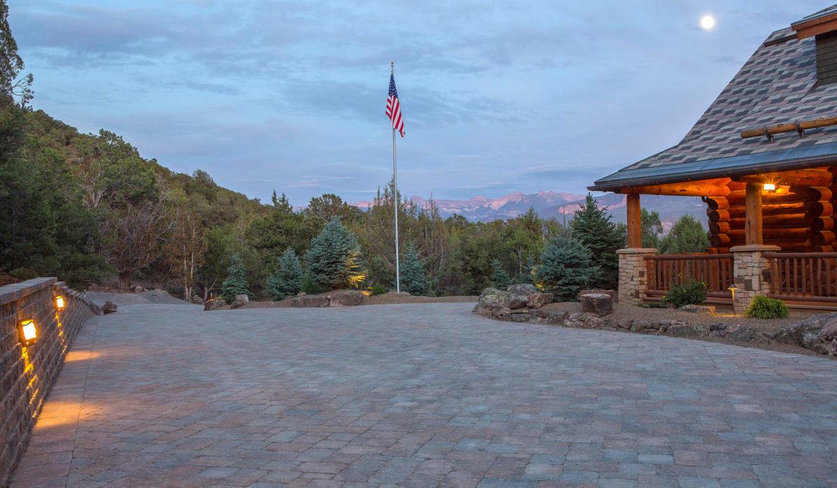 Landscape Design Flagstaff- paver driveway, retaining walls,