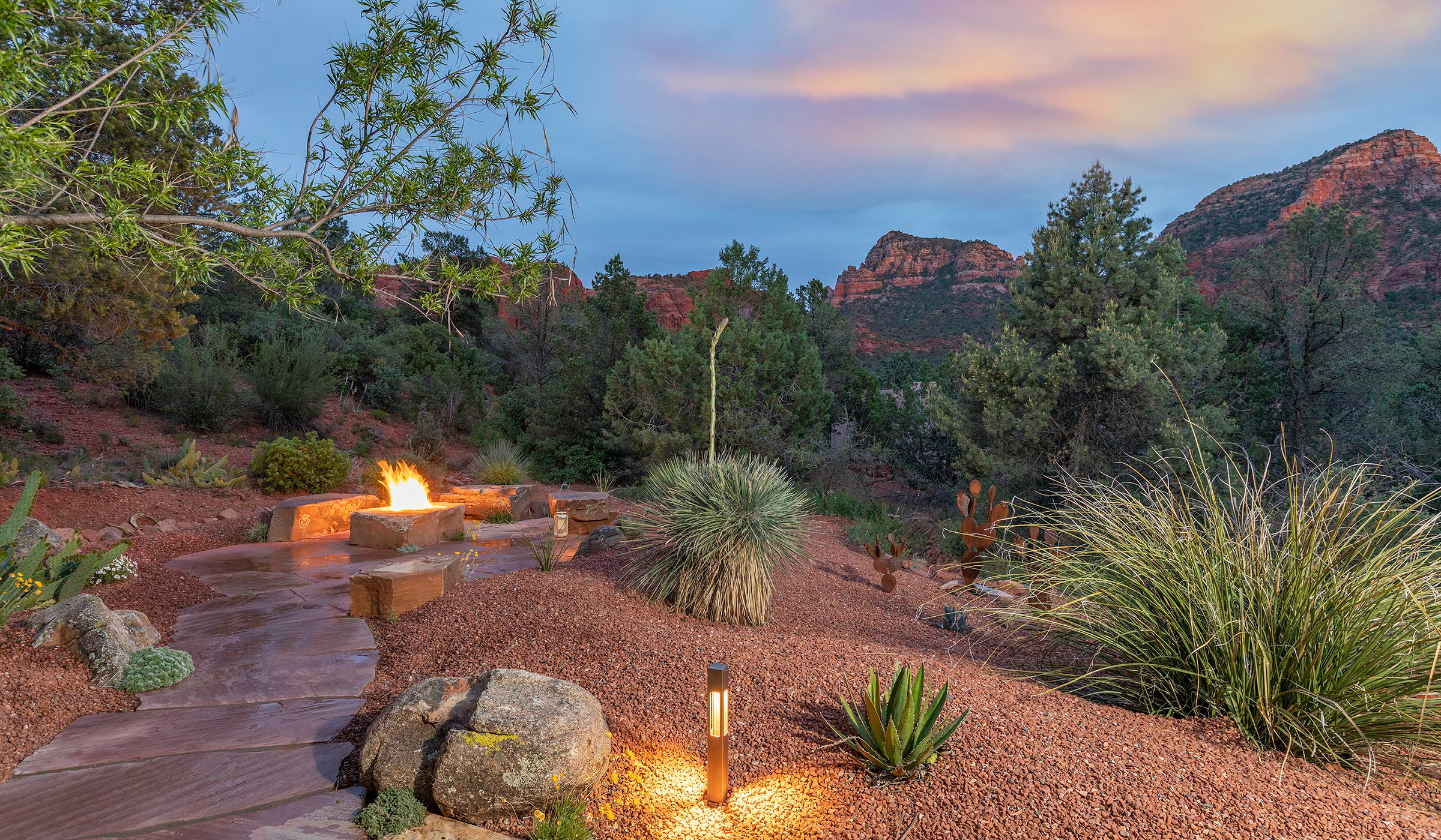 Patio landscape design in Sedona Arizona