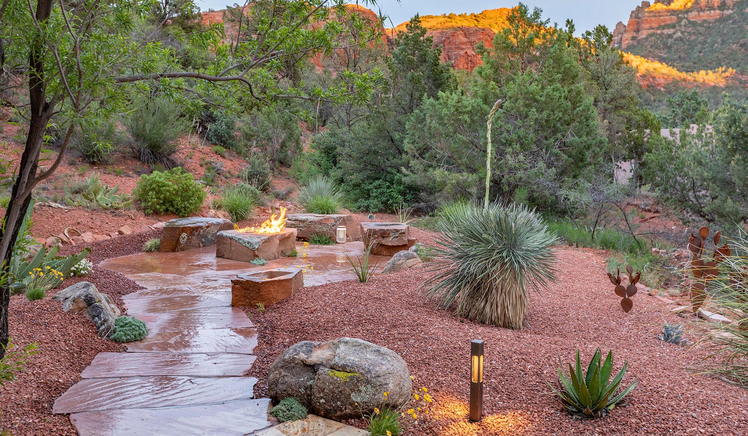 sedona residential landscaping company - flagstone patio